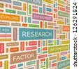RESEARCH. Word collage. Vector illustration. - stock photo