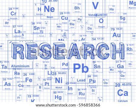 Research word on periodic table symbols stock vector 2018 research word on periodic table symbols graph paper background urtaz Gallery