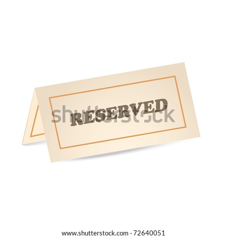 reserved icon - stock vector