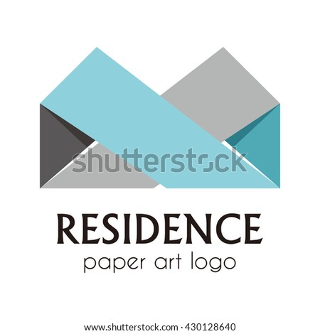 Residence Living house of roof abstract vector and logo design or template real estate business icon of company identity symbol concept - stock vector