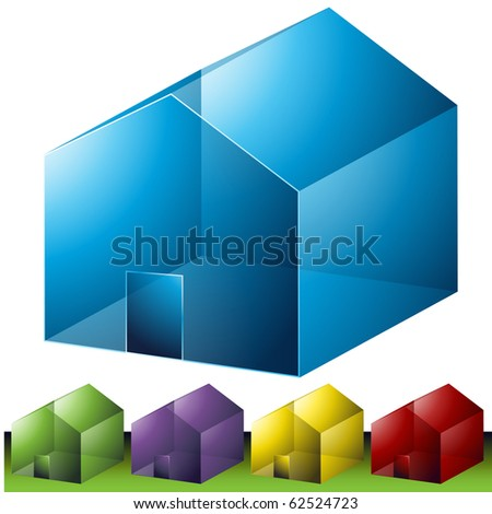 Residential Neighborhood Icons - stock vector