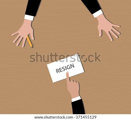 Resign resignation letter envelope give boss stock vector 371455129 resign resignation letter in envelope give to boss on desk spiritdancerdesigns Gallery