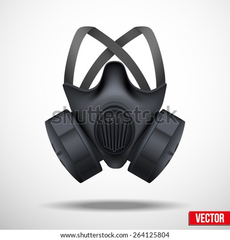 Respirator gas mask. Vector illustration isolated white background - stock vector