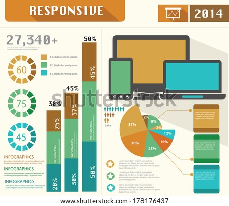 Responsive,Data infographics,vector