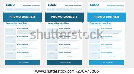 responsive newsletter template business nonprofit organization stock