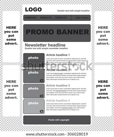 Responsive Newsletter Template Business Nonprofit Organization Stock - Simple newsletter template