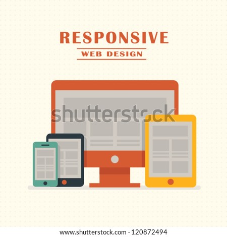 Responsive Web Design - stock vector