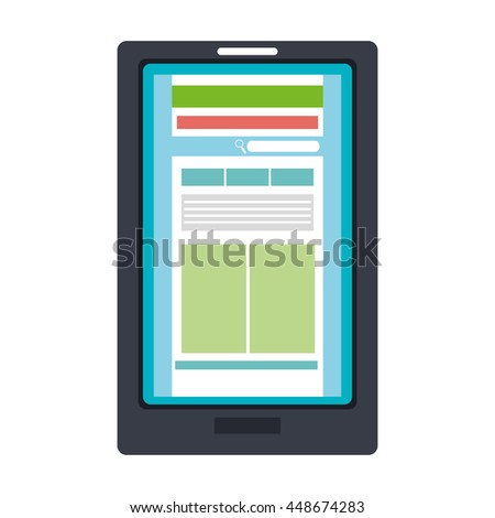 Responsive web design, technology and multimedia vector illustration graphic.
