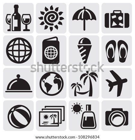 rest icons - stock vector