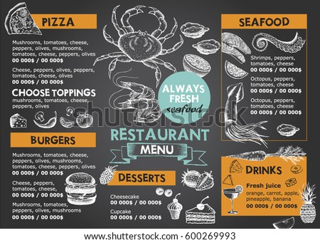 Menu Design Stock Images, Royalty-Free Images & Vectors | Shutterstock