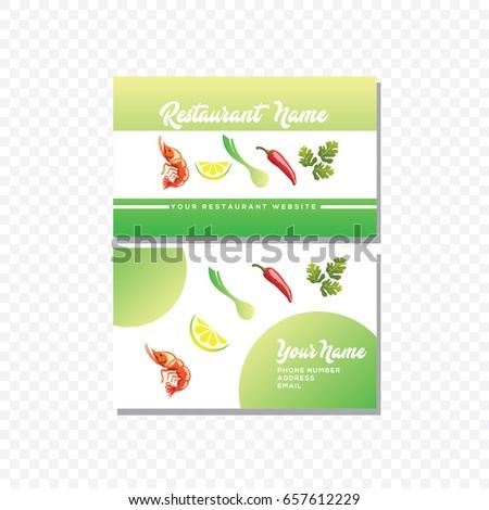 Restaurant business card template vector stock vector royalty free restaurant business card template vector reheart Gallery