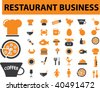 restaurant business. vector - stock vector