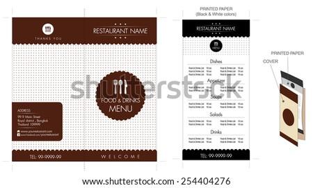 restaurant cafe menu design for small business brochure template vector illustration