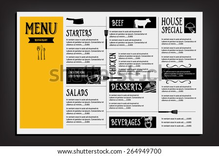 Restaurant Menu Template Images RoyaltyFree Images – Food Menu Template