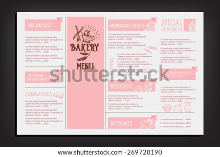 Bakery Menu Stock Images RoyaltyFree Images  Vectors  Shutterstock