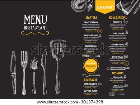 Restaurant Cafe Menu Template Design Food Vector 291230057 – Cafe Menu Template
