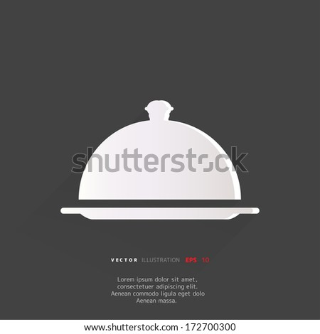 Restaurant cloche icon - stock vector