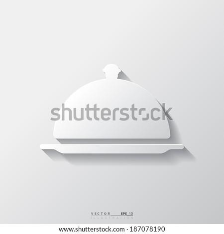 Restaurant cloche icon - stock vector