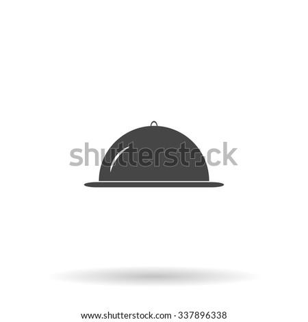 Restaurant cloche. Icon Vector - stock vector