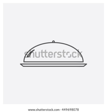Restaurant cloche icon, Vector