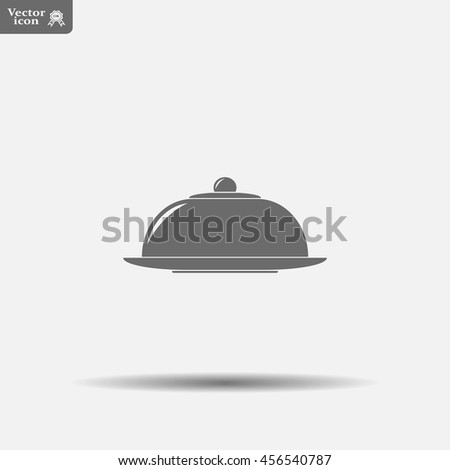 Restaurant cloche .vector icon