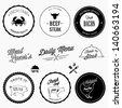 Restaurant design elements - stock