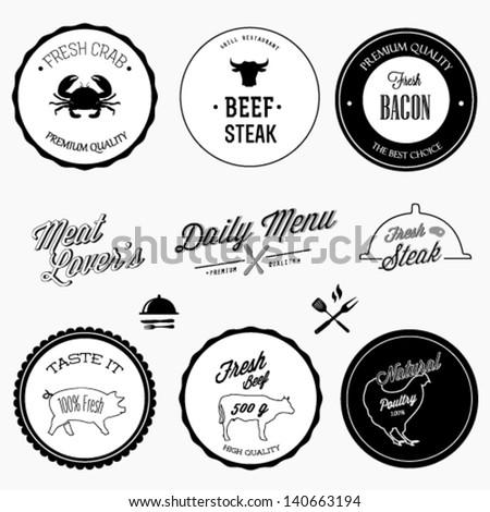 Restaurant design elements - stock vector