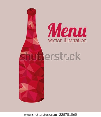 Restaurant design over white background, vector illustration