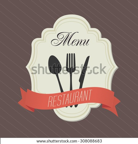 Restaurant digital design, vector illustration eps 10.