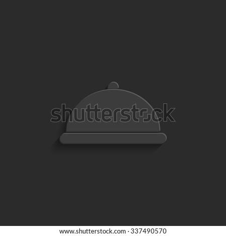 Restaurant dish - vector icon - stock vector