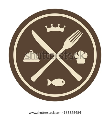 Restaurant icon - stock vector