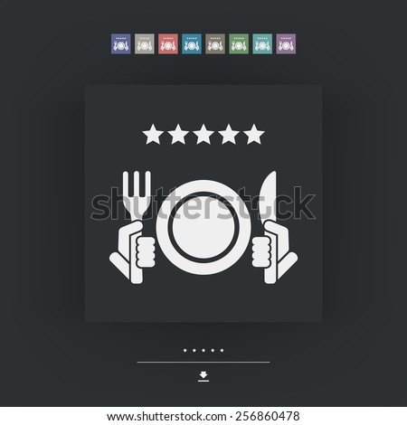 Restaurant icon. Top rating. - stock vector