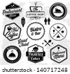 Restaurant Label Set in Vintage Style - stock vector