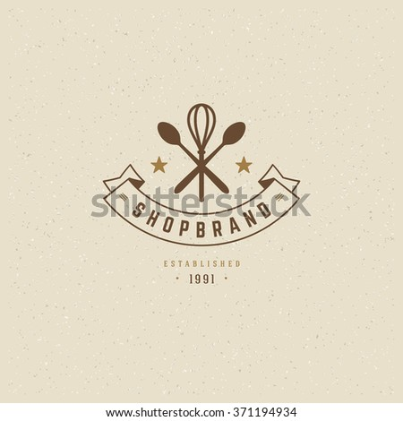 Baking logo stock images royalty free images vectors shutterstock restaurant logo template vector design element vintage style for logotype label badge pronofoot35fo Image collections