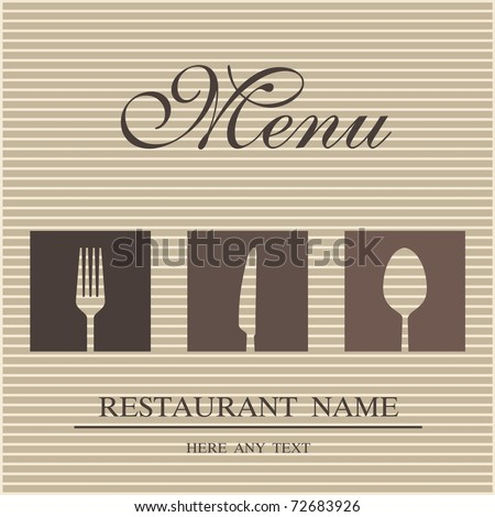 Restaurant menu - stock vector