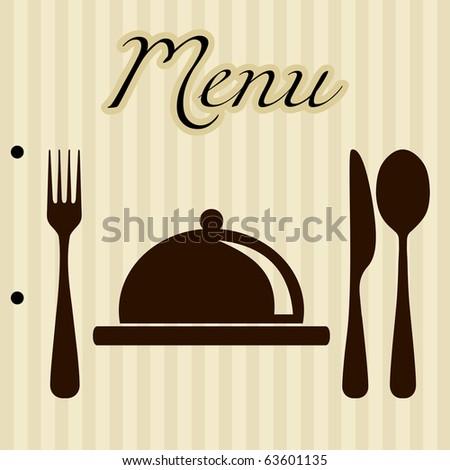 Restaurant menu background - stock vector