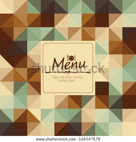 Restaurant Menu Card Design template - stock vector