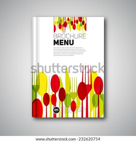 Restaurant Menu Card Design template, Brochure book cover design, vector card - stock vector