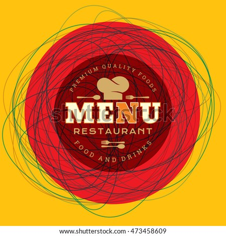 restaurant menu card design template creative stock vector royalty