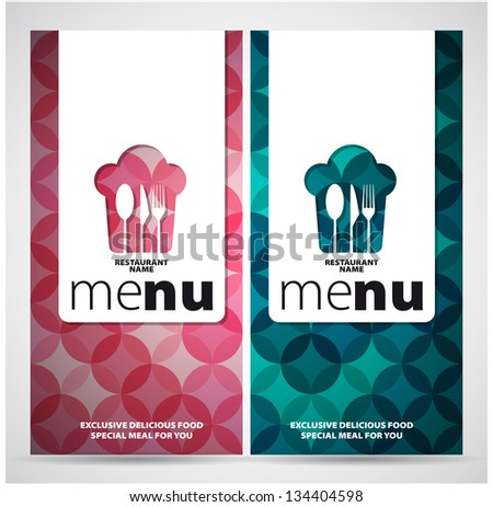 Restaurant Menu Card Design template - two concepts - vector - stock vector