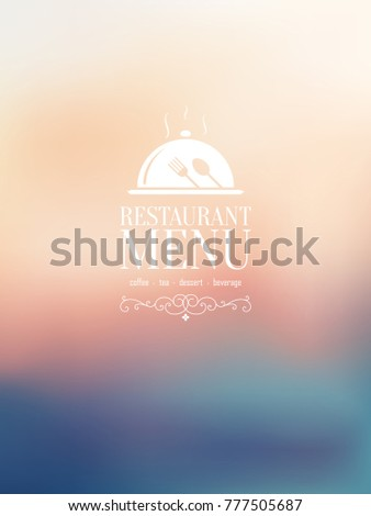 Restaurant Menu Design, Blurred