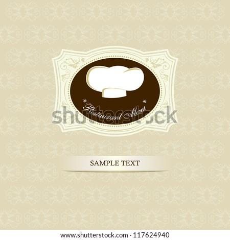 Restaurant menu design / Menu design with chef hat - stock vector
