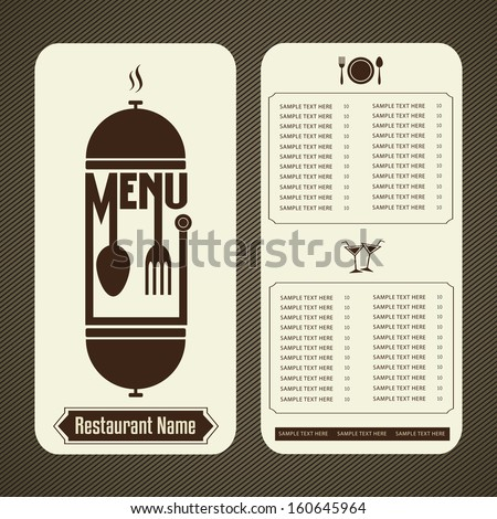 Restaurant menu design template - stock vector