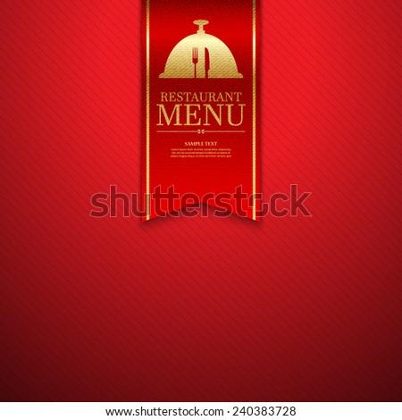 Restaurant menu design.vector - stock vector