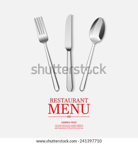 Restaurant menu design. vector - stock vector