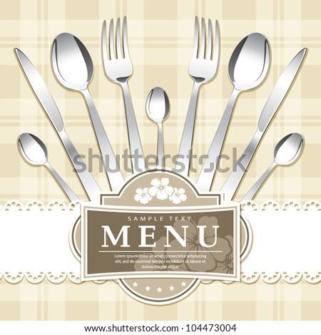 Restaurant menu design. Vector. Grouped for easy editing. - stock vector