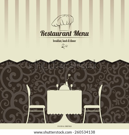 Restaurant menu design. Vector illustration - stock vector