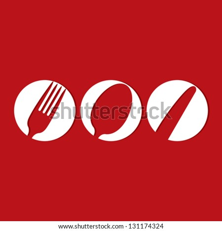 Restaurant menu design whit cutlery symbols - stock vector