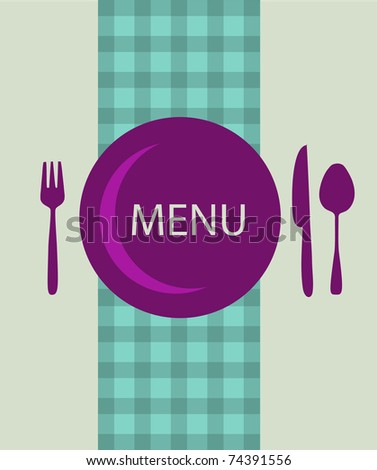 restaurant menu design with table utensil - stock vector