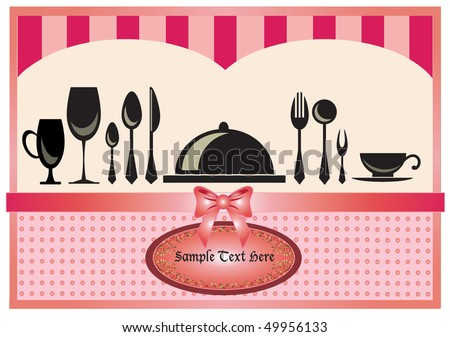 Restaurant menu invitation card pink background stock vector restaurant menu or invitation card in pink background design stopboris Images